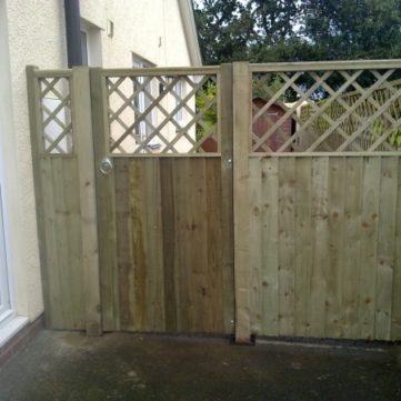Trellis-top fence & Gate